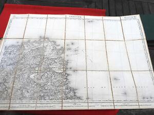 Carte Etat Major 1/80000 DUMAINE 1890 TREGUIER 14