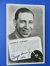 More details for george formby autographed signed 1941 regal records promo postcard make an offer