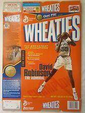 Empty Wheaties Cereal Box 2003 David Robinson The Admiral 18 oz