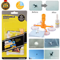 Windshield Repair Kit Quick Fix DIY Car Wind Glass Bullseye Rock Chip Crack Star