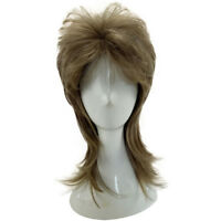 Layered Male Wig Curly Hair Medium Length Style Synthetic High Temperature Fiber