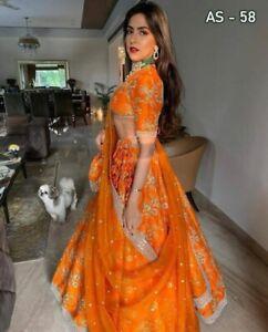 Lehenga Choli Lengha Indian Wedding Party Pakistani Wear Bollywood Designer Eid