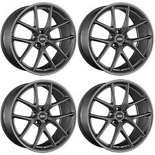 4 x BBS CI-R Satin Platinum/Stainless Rim Alloy Wheels - 5x114.3|20x8.5 "