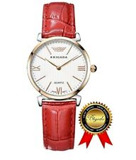 Swiss Watches Quartz Ladies Watches for Girls Women (BRIGADA) B3002Red roman US