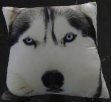 Filled Square Cushions | Cotton / Polyester | Blue Eyes | Dog | Wolf Husk