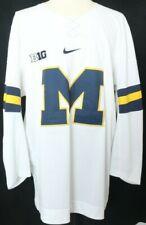 NEW University of Michigan Wolverines Nike Hockey Jersey Navy Men's XL