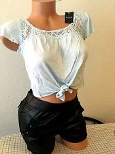 NWT WOMENS CROP TOP***LIGHT BLUE***Size XS/S**Sexy***HOLLISTER***