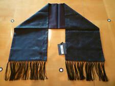 NWT: MOSCHINO Black Silk Scarf with mini logo print all over in black lurex