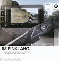 BMW Motorrad Kommunikationssystem Prospekt 4/11 brochure Broschüre 2011 Zubehör