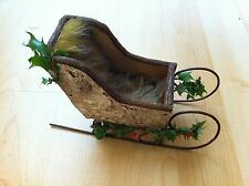 OOAK 1:12 DOLL HOUSE Haunted WITCH YULETIDE Birch SLED SLEIGH MILLIE
