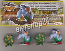 Alle 2 Willi Wegfrei Varianten (DC106) + alle 2 BPZ / Heimwerker Elefanten