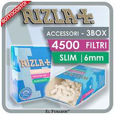 4500 FILTRI RIZLA SLIM 6mm - 3 BOX 30 SCATOLE da 150 PEZZI PER ROLLARE SIGARETTE