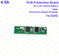 4.5A 3.7v 1s Protection PCB Board Li-ion Lithium 18650 Battery 4.2v Over Charge