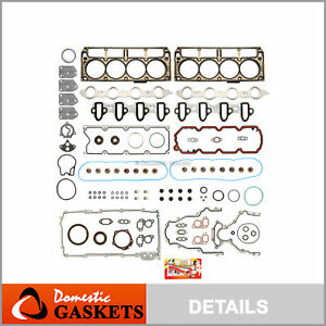 7 Layers Full Gasket Set Fit 02-14 Chevrolet GMC Cadillac Buick 4.8 5.3 OHV