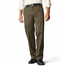 "DOCKERS Khaki Trousers Pants Straight Fit D2 Brown 29"" Waist / 32"" Leg"