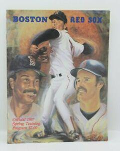 Official 1987 Spring Training Program & Scorecard - Boston Red Sox - Baseball