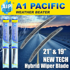 "Hybrid Windshield Wiper Blades Bracketless J-HOOK OEM QUALITY 21"" & 19"""