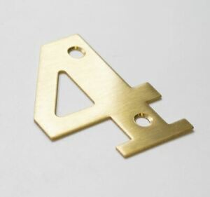 Genuine Sandleford 50mm Screw On Brass Numeral Door Number 4 Four With Fixings