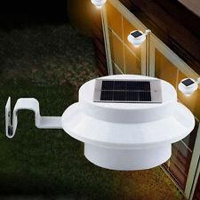 Solar Power 3 LED Light Outdoor Garden Wall Lobby Yard Pathway Gutter White Lamp