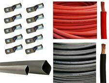 4 Gauge 4 AWG Red & or Black Welding Battery Cable + Cable Lugs + Heat Shrink