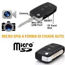 MINI MICRO TELECAMERA VIDEO CAMERA SPIA SPY PORTACHIAVI CHIAVE TELECOMANDO AUTO