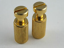 2 Relic Aged GOLD Inch TAIL PIECE STUDS & BUSHINGS for Gibson Les Paul