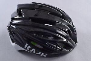 Kask Rapido Cycling Helmet Size Large 59-62cm Black/White Road Bike