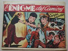 Alain Carter Reporter N° 36 L'énigme des Camions 1948
