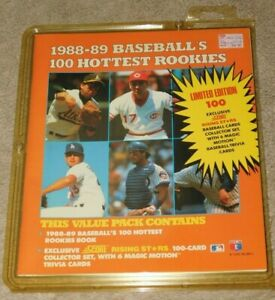 1988-89 SCORE BASEBALL'S 100 HOTTEST ROOKIES BOOK (New In Package)