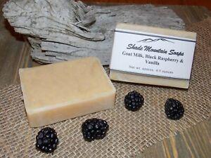 Homemade Goat's Milk Soap - Black Raspberry & Vanilla