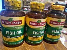 Nature Made Fish Oil1200mg (360mg Omega-3) 300 Softgels