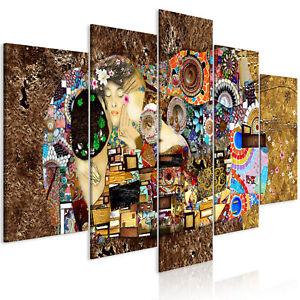 KUSS GUSTAV KLIMT Wandbilder xxl Bilder Vlies Leinwand Leinwandbild l-A-0060-b-m