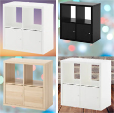 *New* KALLAX Shelving unit with doors,(4 colors) 77x77 cm *Brand IKEA*