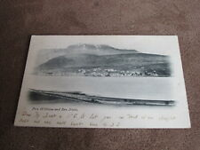 1910 fr postcard - early scene of Fort William & Ben Nevis - Inverness-shire