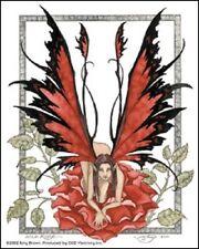 Amy Brown Sticker Decal Fairy Faery Wild Rose red flower garden thorn fantasy