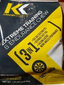 KRAMP KRUSHER ELECTROLYTE CHEWZ, 1.75oz. - Lemon - 12pk - New in Box - FREE S&H!