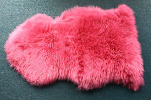 100% Genuine PINK Sheepskin Lambskin Rug 90-99cm*55cm SINGLE-L