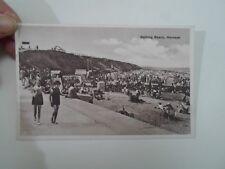 Vintage Postcard BATHING BEACH, HORNSEA (Beach Huts In View Nostalgic)  §A1005