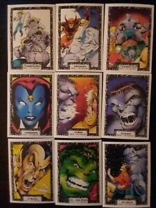 THE INCREDIBLE HULK 1991 MARVEL CARDS  - Lot of 60 cards