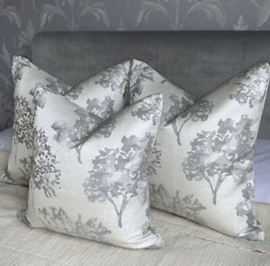 "Beautiful Cushion Cover 16"" Designer Studio G Fabric & Grey Decor Trees"