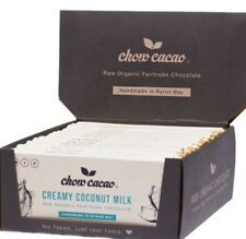 Chow Cacao Fair Trade Raw Organic Chocolate - Coconut Milk 15 X 40g Packets