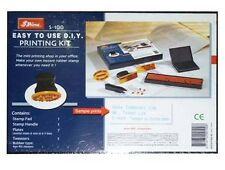 Shiny S-100 Rubber Stamp Easy To Use DIY Printing Kit Perfect Easy Make Fast Cha