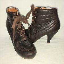 96ca4060895 Chie Mihara Keiti Lace Up Women s 38.5 US 8 Brown Leather Ankle Boots  485