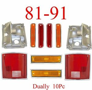81 91 Chevy 10Pc Dually Light Kit, GMC, Front Fender, Dually Fender, Tail Light