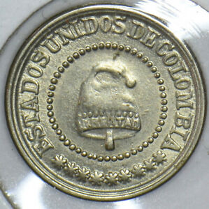 Colombia 1881 2 1/2 Centavos 490041 combine shipping