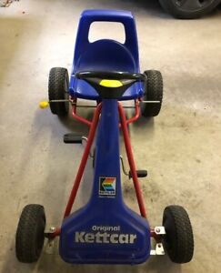 """KETTLER Original KETTCAR """"Sportster"""" Ride On PEDAL CHAIN RACE CAR (Blue and Red)"""