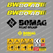 BOMAG BW80AD-5 ROLLER DECAL STICKER SET