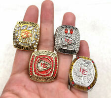 4 Pcs 2019 Kansas City Chiefs Championship Ring Fan Great Gift !!