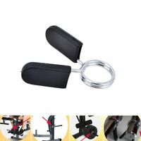 2pc 25mm Spring Clamp Collar Clips for Weight Lifting Bar Dumbbell Equipment UK