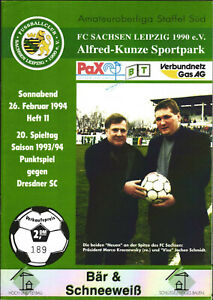 OL 93/94 FC Sachsen Leipzig - Dresdner SC, 26.02.1994